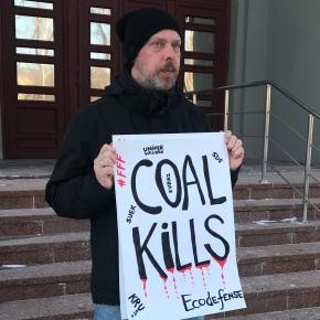 Пикеты против добычи угля вКузбассе